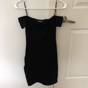 Express Simple Bodycon Dress Black